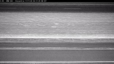 Alexandria - I-90 @ MP 348 - road surface view - South Dakota