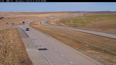 Belvidere - 9 miles east of town along I-90 @ MP 172.5 - Camera Looking East - South Dakota