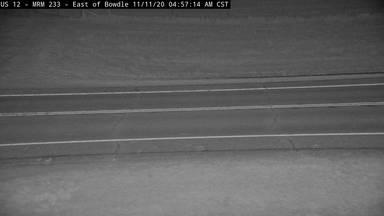 Bowdle - US-12 @ MP 233 - road surface view - South Dakota