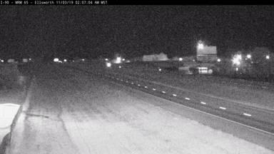 Ellsworth - 4 miles east of town along I-90 @ MP 65.2 - Camera Looking East - South Dakota