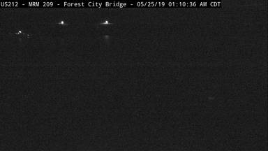 Forest City - US-212 at Forest City Bridge across Missouri River - Camera Looking North - South Dakota