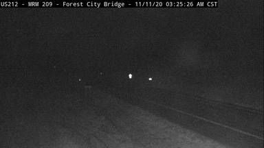 Forest City - US-212 at Forest City Bridge across Missouri River - Camera Looking South - South Dakota