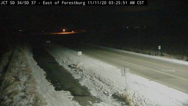 Forestburg - East of town at junction SD-34 & SD-37 - Camera Looking East - South Dakota