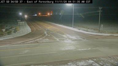 Forestburg - East of town at junction SD-34 & SD-37 - Camera Looking South - South Dakota