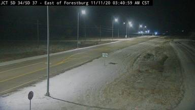 Forestburg - East of town at junction SD-34 & SD-37 - Camera Looking West - South Dakota