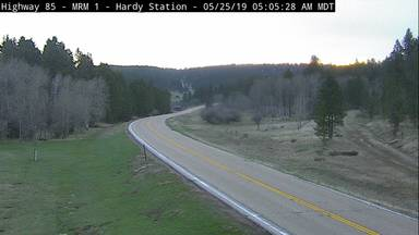 Hardy Station - Near WY border along US-85 @ MP 2.5 - Camera Looking North - South Dakota