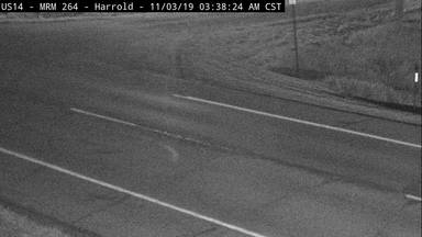 Harrold - East of town along US-14 @ MP 264.0 - Camera Looking South - South Dakota