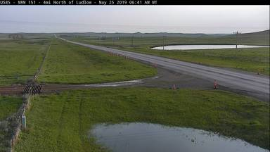 Ludlow - 2 miles north of town along US-85 2 MP 150.1 - Camera Looking North - South Dakota