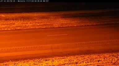 Mellette - Junction US-281 & SD-20 - road surface view - South Dakota