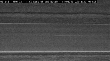 Mud Butte - 1 mile east of Mud Butte along US-212 @ MP 74 - Camera Looking Southeast - South Dakota