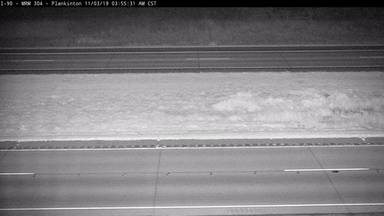 Plankinton - I-90 @ MP 304 - road surface view - South Dakota