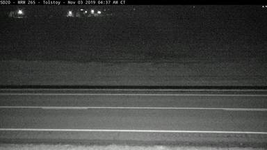 Tolstoy - South of town along SD-20 @ MP 265.7 - Camera Looking West - South Dakota