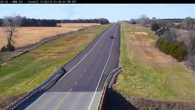 Tyndall - 5 miles east of town along SD-50 @ MP 361 - Camera Looking West - South Dakota