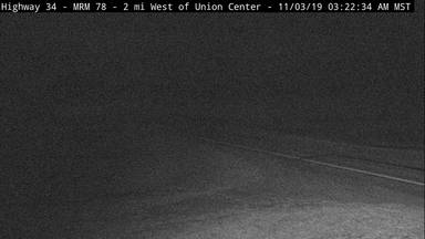Union Center - 2 miles west of town along SD-34 and MP 78 - Camera Looking East - South Dakota