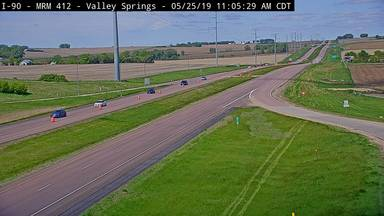 Valley Springs - I-90 @ MP 412 - Camera Looking West - South Dakota
