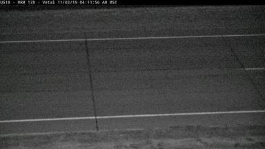 Vetal - 10 miles east of town along US-18 @ MP 178 - road surface view - South Dakota