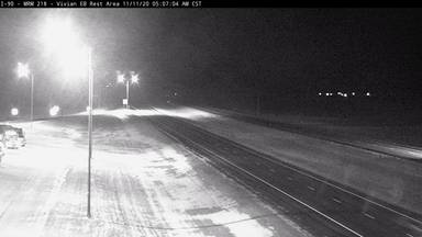 Vivian Rest Area - East of town along I-90 @ MP 218 - Camera Looking West - South Dakota