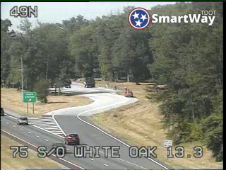 I-75 South of White Oak Mountain (838) - Tennessee