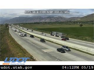 I-15 SB @ 1100 N / MP 358.2, WIL - Utah