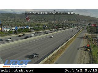 I-15 SB @ 13000 S / MP 290.6, DPR - Utah