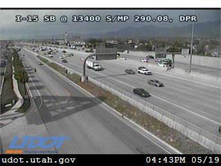 I-15 SB @ 13400 S / MP 290.08, DPR - Utah