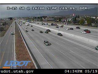 I-15 SB @ 14200 S / MP 289.09, DPR - Utah