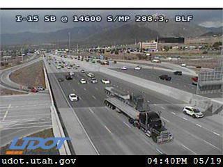 I-15 SB @ 14600 S / Highland Dr / SR-140 / MP 288.3, BLF - Utah