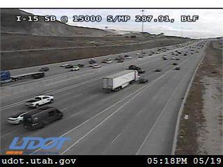 I-15 SB @ 15000 S / MP 287.91, BLF - Utah