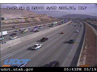 I-15 SB @ 15800 S / MP 286.64, BLF - Utah