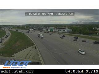 I-15 SB @ 200 N / SR-273 / MP 328.65, KAY - Utah
