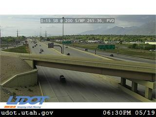 I-15 SB @ 200 S / MP 265.36, PVO - Utah