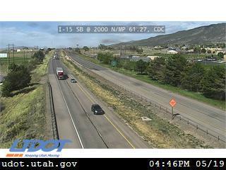 I-15 SB @ 2000 N / MP 61.27, CDC (Local) - Utah