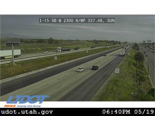 I-15 SB @ 2300 N / MP 337.48, SUN - Utah
