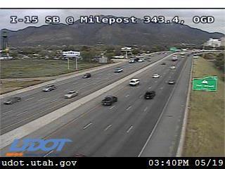 I-15 SB @ 25th St / MP 343.4, OGD - Utah