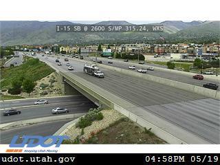 I-15 SB @ 2600 S / SR-93 / MP 315.24, WXS - Utah
