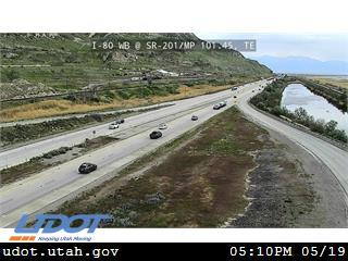 I-80 WB @ SR-201 / MP 101.45, TE - Utah