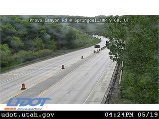 Provo Canyon Rd / US-189 @ Springdell / MP 9.68, UT - Utah