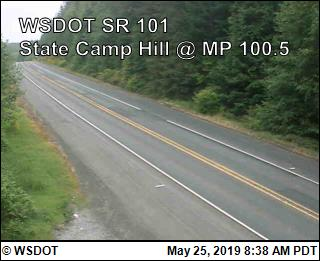 State Camp Hill on US-101 @ MP 100.5 - Washington