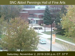 Abbot Pennings Hall of Fine Arts - looking south - USA